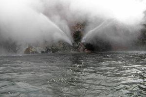 The new geyser on Lake Rotomahana. Photo / The Daily Post
