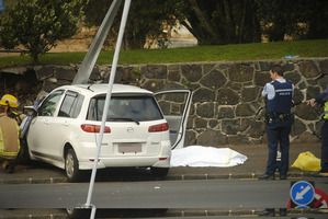 Petrina Tau was killed when her car smashed into a stone wall in Mt Albert Rd. Photo / Jason Dorday