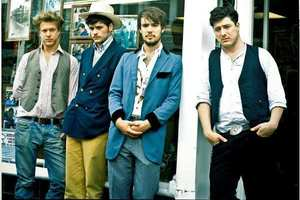 Mumford and Sons' singer Marcus Mumford says he borrowed a line from a book for a song on the band's new album. Photo / Supplied