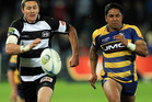 Gillies Kaka of Hawke's Bay and Maru Henry of Bay of Plenty chase a kick during the round eight ITM Cup match between Hawke's Bay and Bay Of Plenty. Photo / Getty Images.