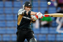 New Zealand batsman Brendon McCullum plays a shot during the ICC Twenty20 Cricket World Cup match against Bangladesh in Pallekele, Sri Lanka, Friday, Photo / Getty Images.