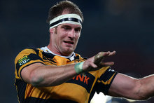 Craig Clarke of Taranaki wins a lineout ball. Photo / Getty Images.