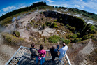 The steaming Karapiti craters, part of Taupo's Wairakei geothermal field. Photo / Supplied