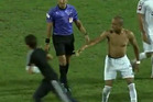 When Pablo Cesar Cabral scored a 93rd minute goal to give Kasimpasa a 3-0 win over rivals Gaziantepspor, he celebrated in true South American style - by taking off his shirt. Photo / Youtube