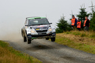 Hayden Paddon during day two of Wales Rally GB. Photo / Honza Fronek