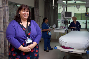 Catherine Hocking says motivating staff has helped in the drive to reduce blood infections caused by catheters.  Photo / Natalie Slade