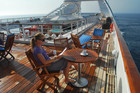 Diana Balham has a relaxing time aboard the Seabourn Pride. Photo / Derek Watts