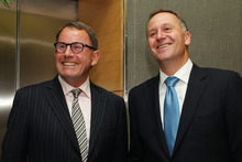 Act leader John Banks and Prime Minister John Key.