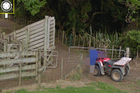A Google image of James Parker's Kaitaia property. The internet giant has removed the image of a boy pictured in the Street View shot.