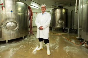 "Klondyke's Graeme Brown accuses the two milk companies of ""stretching"" their product.  Photo / Martin Hunter"