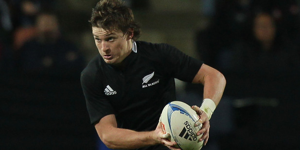 It was impossible not to be taken with Beauden Barrett throughout Super Rugby: he kicked effortlessly off both feet, ran well and passed well. Photo / Getty
