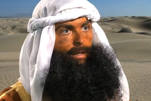 The fake beards were but one aspect of Innocence of Muslims, a movie so bad that it was comical. Photo / Supplied