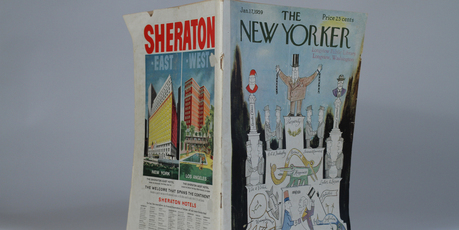 Saul Steinberg's art decorated The New Yorker magazine over 50 years. Photo / Natalie Slade 