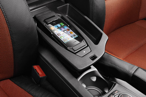 An iPhone connected to a BMW 1-SERIES infotainment system. Photo / NZ Herald