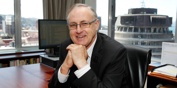 Retiring Reserve Bank Governor Alan Bollard in their Wellington office.  Photo / Mark Mitchell