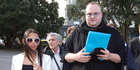 View: Kim Dotcom visits Parliament