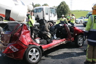 The Westpac Waikato Air Ambulance responded to the scene of a motor vehicle crash on SH3 at the turn off to Waitomo Caves. Photo / Waitomo News