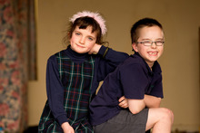 Although twins, Rose and Finn Williams tackle things quite differently. Photo / Martin Hunter