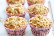 Apple crumble cupcakes. Photo / William Meppem