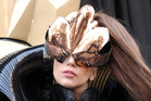 Lady Gaga arrives at Macy's Herald Square by horse-drawn carriage to launch her Lady Gaga Fame fragrance. Photo / AP