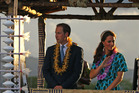Prince William, with his wife, Kate arrive in the Solomon Islands. Photo / AP