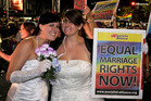 The number of same-sex marriages in Canada has nearly tripled from 2006. Photo / AP