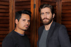 Michael Pena, left, and Jake Gyllenhaal, cast members in the film 'End of Watch'. Photo / AP