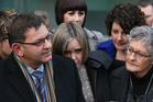 Bryan Guy, here with daughter Anna (centre) and wife Jo (right), says the family have to get past the hurt of Ewen Macdonald's actions. Photo / Greg Bowker