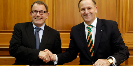 For now, John Key is lumbered with John Banks by virtue of needing his vote. Photo / Mark Mitchell