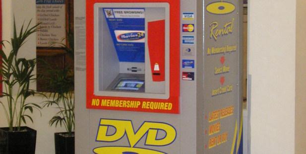 A DVD rental machine.