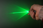 The green laser was shone twice into the cabin of a Boeing 737. File photo / Greg Bowker