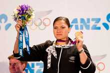 Gold medallist Valerie Adams. Photo / Greg Bowker 