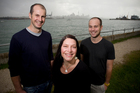 Rich Chetwynd (left) says he, Nicole Fougere and Daniel Allen see bigger opportunities. Photo / Dean Purcell