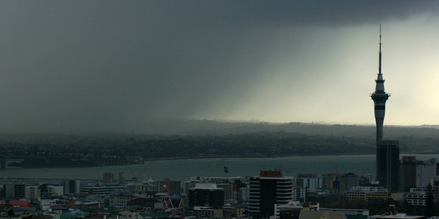 It's common but rain in Auckland is still hard to predict. Photo / Martin Sykes