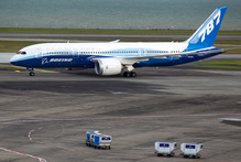 The Boeing 787 Dreamliner at Auckland International Airport. Photo / Steven McNicholl