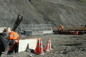 Men at work in the Manawatu Gorge. Photo / Hawke's Bay Today