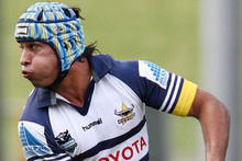 Johnathan Thurston argued the video refs' decision. Photo / Wayne Drought