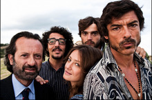 The gang from the offbeat Basilicata Coast to Coast. Photo / Supplied