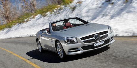 The new Mercedes-Benz SL500 happily sits between relaxed roadster, quiet cruiser and hardcore V8 coupe. Photo / Supplied