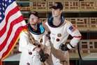 Sam Berkley and Ben Van Lier are American astronauts who need rescuing. Photo  / Warren Buckland