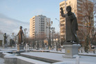 Monuments to poets and writers on Ashgabat's 'Inspiration Alley'. Photo / Creative Commons image by Wikipedia user ILMur