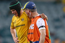 Berrick Barnes or Kurtley Beale will wear the 10 jersey against South Africa next weekend. Photo / Getty Images 