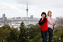 Dionne Christian (left) and Dani Wright meet in Birkenhead to compare nots on Auckland's north and south. Photo / Sarah Ivey
