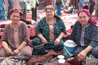 Women selling traditional Turkmen embroidery. Photo / Jill Worrall