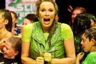 Charlotte Dawson gets slimed during the Slimefest in Sydney. Photo / Nickelodeon