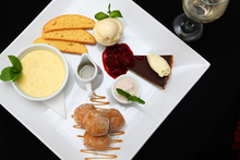 The Landing's dessert platter with lemon posset. Photo /Chris Gorman