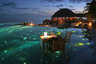 Dinner - Maldives style - at Huvafen Fushi resort. Photo / Supplied