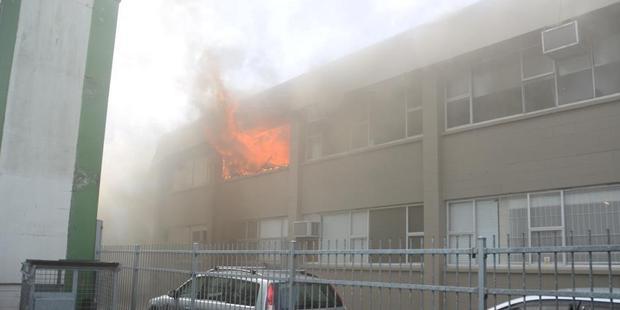 Loading The scene of the blaze in Mt Eden. Photo / Eden Coffee