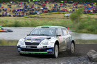 Hayden Paddon in action during Rally Great Britain. Photo / Honza Fronek