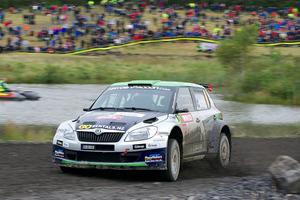 Hayden Paddon in action during Rally Great Britain. Photo / Honza Fronek